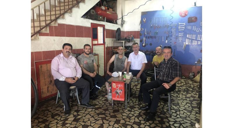 GAZİ İBRAHİM ÖZKAN'I İŞYERİNDE ZİYARET